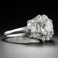 Difference Between Engagement Ring And Wedding Ring by 1 12 Carat Diamond And Platinum Art Deco Engagement Ring