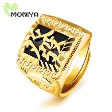 verlobungsring sprã che shop moniya 18mm gold farbe signet ringe für männer