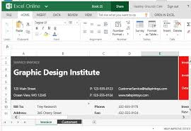 Service Invoice Template Excel Free Service Invoice Template For Excel