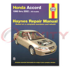 haynes honda accord 98 02 repair manual 42014 shop service