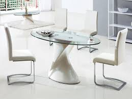oval table and chairs eye catching interesting oval glass dining tables of 96081529