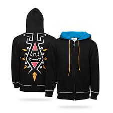the legend of zelda breath of the wild zip up hoodie large for