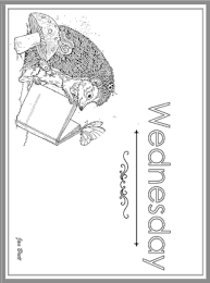 photo days of the week coloring page wednesday century jan
