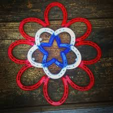 horseshoe wreath patriotic horseshoe wreath aftcra
