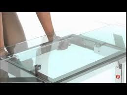 Modern Furniture Table Calligaris Tower Glass U0026 Metal Extending Table Fci Modern