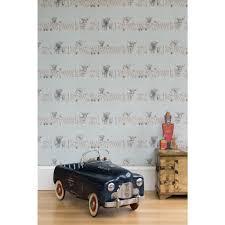 highland fling wallpaper blue designer cow wallpaper