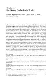 Bio Letter Sample Bio Ethanol Production In Brazil Springer