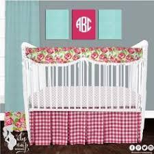 Preppy Crib Bedding Perfectly Pretty In Palm This Preppy Yet Stately Baby