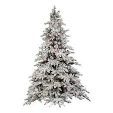vco 9 pre lit flocked utica artificial tree multi