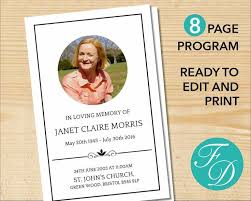 downloadable funeral program templates free printable funeral programs templates free printable template