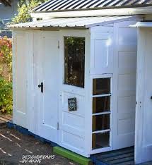 Door Awning Plans Designdreams By Anne Building A Shed With Old Doors