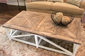Outdoor End Table Plans Free by Diy Parquet X Brace Coffee Table Free Plans Rh Inspired