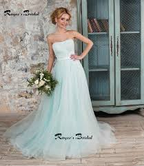 simple strapless a line mint green wedding dresses new a line