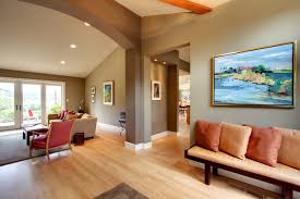 two color living room walls contemporary