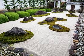 Rock Garden Features The Rock Garden At Myoren Ji A Buddhist Temple In Kyoto Features