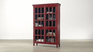 Small Red Bookcase Rojo Red Tall Cabinet Crate And Barrel