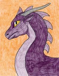 purple dragon head art projects kids