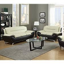 Leather Sofa Beige Us Pride Furniture 2 Modern Bonded Leather Sofa