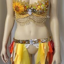 Moon Goddess Fairy Monokini Bra Cosplay Dance Costume Rave Bra by Build Your Own Custom Rave Bra Halloween Costume Cosplay