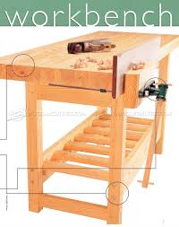 wood workbench plan u2022 woodarchivist