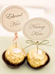 edible place card instead of ferroro roche make my golden oreo