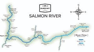 Highly Detailed River Map Of by Salmon River Rafting Company