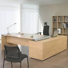 bureau chene clair bureau professionnel angle gauche 200x200 cm coloris chêne clair