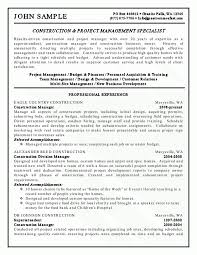 Construction Project Manager Resume Example by Assistant Property Manager Assistant Property Manager Resume