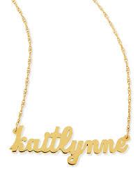 customized nameplate necklace zeuner serafina personalized mini nameplate necklace