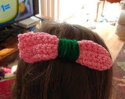 crochet hair bows crocheted hair bow etsy