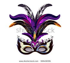 mardi gras mask with feathers carnival mask feathers venetian mardi gras stock vector 568458391