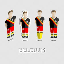 belgium soccer team sportswear template u2014 vetores de stock