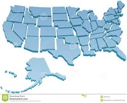 us map states only vector map of united states america with single color and