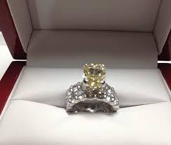 diamond wedding ring sets platinum and yellow diamond custom made wedding ring set susie
