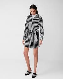 express dress striped sleeve pocket shirt dress express