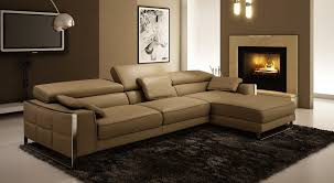 Modern Leather Sectional Sofas Casa Drago Modern Bonded Leather Sectional Sofa