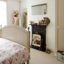 bedroom corner fireplace large clear inspired windows white