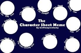 Character Memes - character sheet meme blank by evilvireducky on deviantart