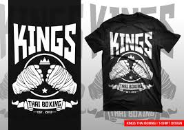 Thai Design Professional Upmarket T Shirt Design For Kings Thai Boxing By