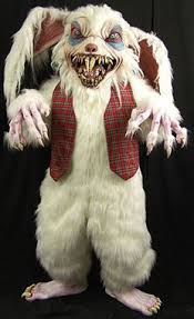 easter bunny costume rottentail scary snaggle tooth teeth creepy easter bunny