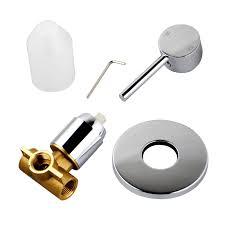 fosca round chrome lollipop pin lever wall mount shower bath