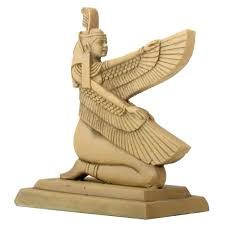 egyptian hieroglyphic maat cast resin statue 3 inches