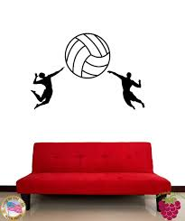 compare prices on wall sticker athletics online shopping buy low wall stickers vinyl decal volleyball ball sport athletes china