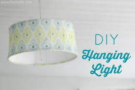 how to make a cheap hanging light lovely etc