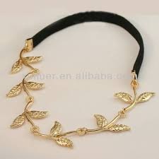 metal headbands fashion gold leaf elastic metal headbands buy metal headbands