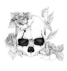 skull n roses by skrzynia deviantart com on deviantart
