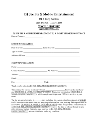 dj contract bagnas legal documents pinterest invoice formatplate