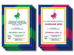 polo baby shower printable navy green pink polo invite or menu personalized