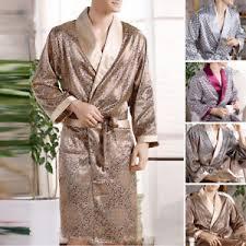 robe de chambre homme en soie hommes satin soie de luxe pyjama kimono peignoir robe chambre