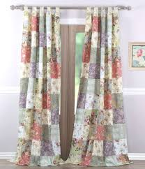 blooming prairie floral patch window panels set of 2